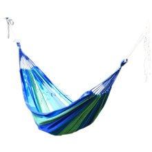 "Creative Canvas Stripe  Quilted Fabric Hammock Foldable Hammock Blue 76.7*31"""