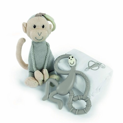 Matchstick Monkey Teething Gift Set, Grey