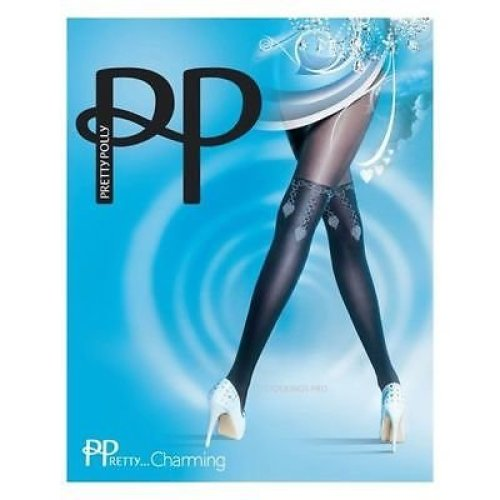 2b99045617f Pretty Polly Black Charming Chain Over the Knee Tights Opaque on OnBuy