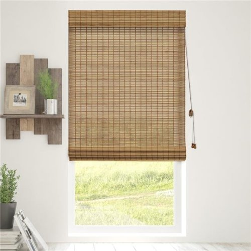 Chicology BRMS2764 Bamboo Roman Shades Wood Window Blind, Squirrel - 27 x 64 in.