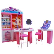 Luxurious 11.5'' Doll House Living Room Furniture Set-Cosmetic Center
