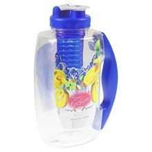 1.8l Clear Blue Fruit Infusing Flavour Infuser Water Sports Health Jug Pitcher -  fruit infusion pitcher party 18l clear jug core flavour infuser