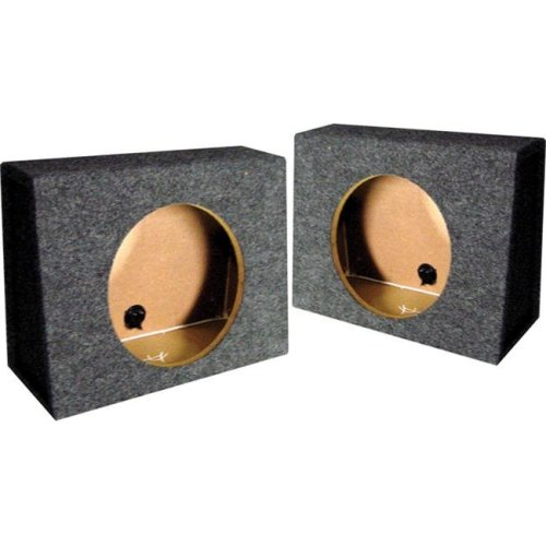 Qpower QTW10S 10 in. Angle Mounts Behind Seat Empty Split Woofer Box