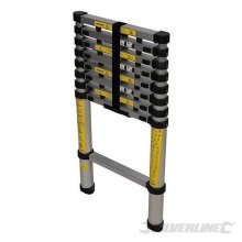 2.6m 9 Tread Telescopic Ladder - 26m Silverline 9 452123 Aluminium -  telescopic ladder 26m silverline 9tread 452123 aluminium