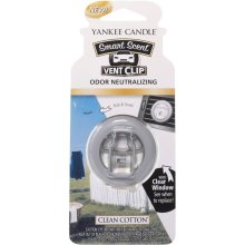 Yankee Candle Clean Cotton Smart Scent Vent Clip Air Freshener Odour Neutralize