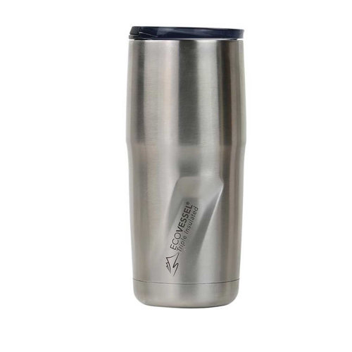 Ecovessel Metro 473ml Hot Cold Drinks Mug Tumbler Silver Express
