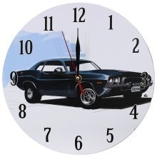 Obique Home Decoration Nostalgic Black Car Scene MDF Wall Clock 28cm