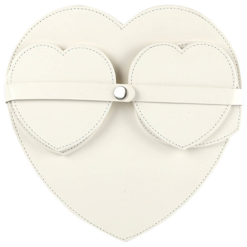 Pack Of 4 Heart Shaped Coasters And Table Placemats Dinner Tableware Set White