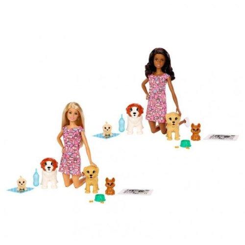 Mattel MTTFXH07 Barbie Doggy Daycare Doll Assortment - 4 Piece