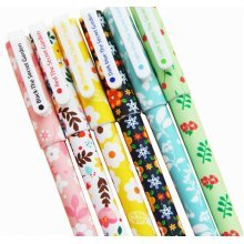 12pcs Pretty Color Gel Ink Pens Marker Pen Highlighters Stationery Flowers