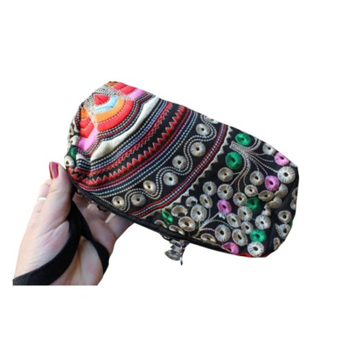 Ethnic Style Needlecrafts Handmade Embroidery, Purse & Hand bag & Purse(L)