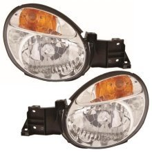 Subaru Impreza 10/2000-2/2003 Headlights Headlamps 1 Pair O/s & N/s