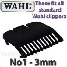 Wahl Standard Fitting Attachment Comb No1  3mm Black