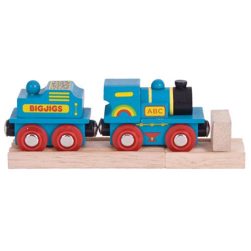 Bigjigs Rail Blue ABC Engine - Other Major Rail Brands are Compatible