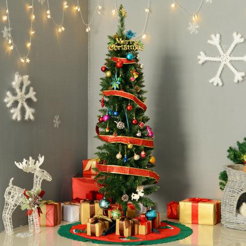 Homcom Slim 5ft Artificial Christmas Tree | Slim Artificial Christmas Tree