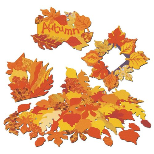 Pre-Cut Autumn Paper Leaf Shapes (Pack of 250)