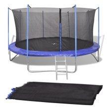 vidaXL Safety Net PE Black for 3.96 m Round Trampoline