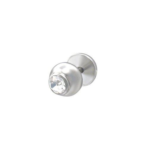 Urban Male CZ Set Stainless Steel Fake Ear Expander / Plug