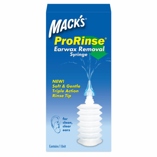 Mack's ProRinse Earwax removal syringe from the makers of Macks