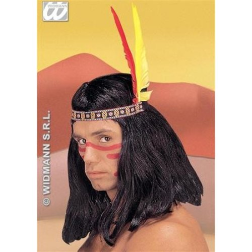Indian Head Band Feathers 2 Jewelry Headress Hat Native American Wild West