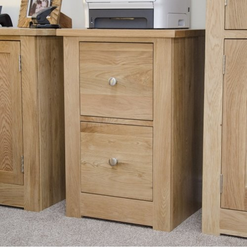 Homestyle Torino Solid Oak Furniture 2 Drawer Filing Cabinet