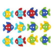 Sew Cute Fish - Novelty Craft Buttons & Embellishments by Dress It Up