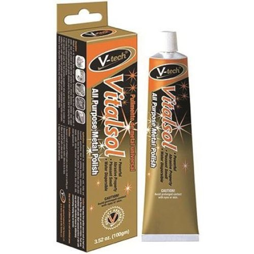 V-Tech VT550 Vitalsol Metal Chrome Brass Copper Polish 100g Water Dispersible