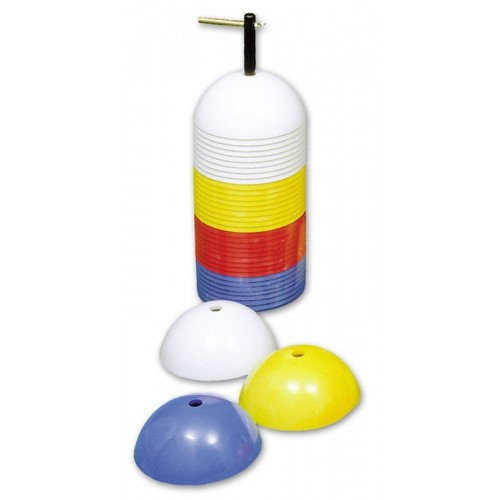 Sports Marker Safety Football Rugby Training Marker Cones Assorted (Set of 40)