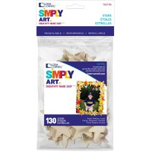 Simply Art Wood Shapes 130/Pkg-Stars