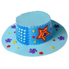 DIY Homemade Hat Creative Diy Toy Performance Props Blue