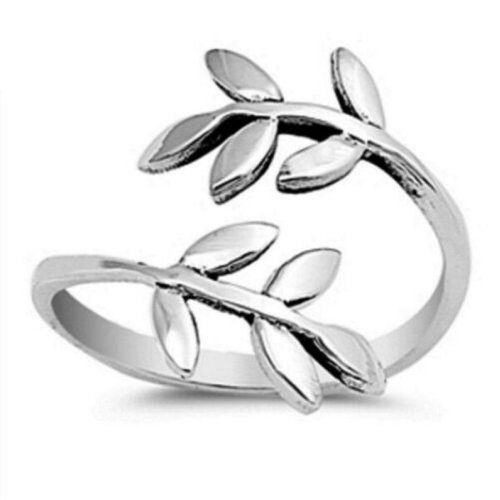 Leaf Wrap Toe Ring For Women's 925 SilverWhite Gold Plated