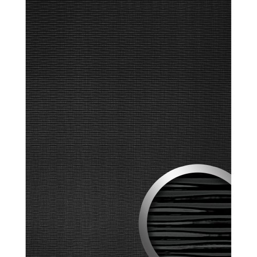 WallFace 15763 MOTION TWO Wall panel wallcovering 3D wave decor black 2.60 sqm