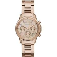 Armani Exchange Watch AX4326 Chronograph Rose Crystal Woman
