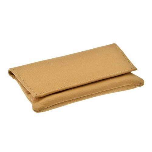 GTR-Prestige Giftware Smoking Accessories P35539TA - GBD Mini Tan Leather Patterned Roll Your Own Tobacco Pouch