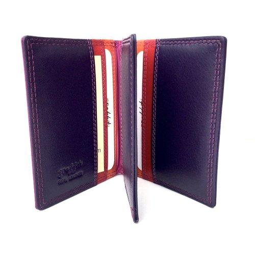 Golunski RFID Safe Graffiti Range Quality Leather Multi Coloured Credit Card Holder