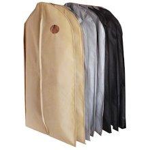 Set Of 9 Storage Garment Shoulder Covers Suit Dust Covers Hanging Coat Pockets 100x60CM (3 Colors)