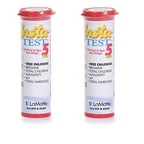 2x LaMotte Insta-Test 5 Plus, Free Chlorine, Bromine, Alkalinity, pH, Total Hardness Testing