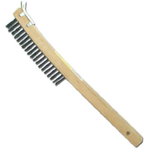 01712 Curved Long Handle Wire Brush With Scraper