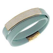 Swarovski Vio Cielo Leather Bracelet - 5120641