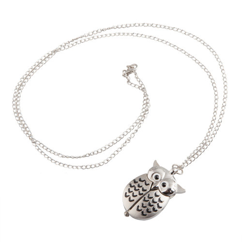 TRIXES Owl Watch Necklace Fashionable Cute Pendant