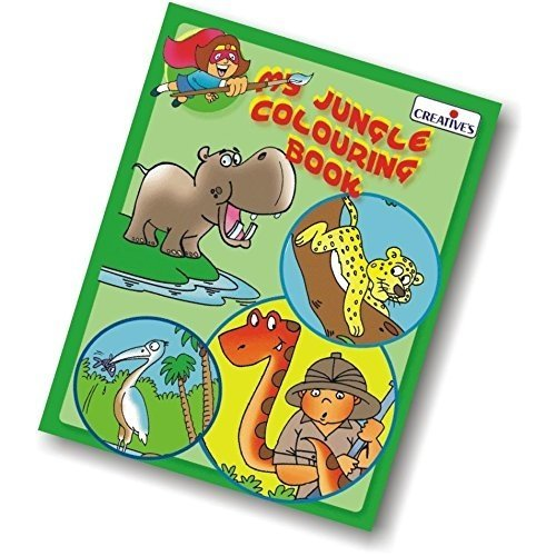 Creative Books - My Junglecolouring Book - Cre0540 Jungle Colouring -  cre0540 creative books my jungle colouring