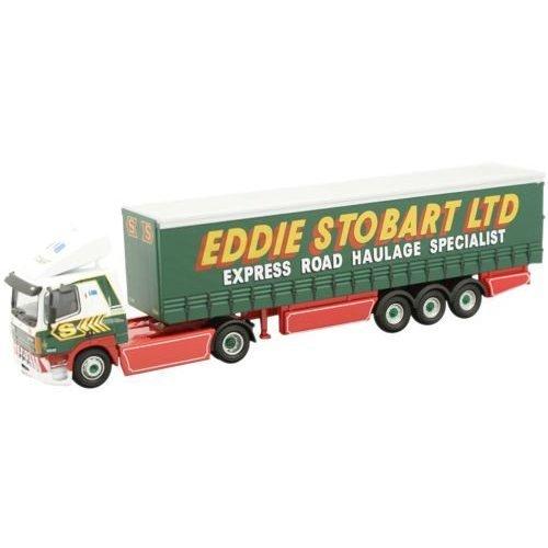 Oxford Diecast 76Daf003 Leyland Daf Ft85Cf Curtainside Eddie Stobart