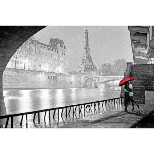Paris Eiffel Tower Kiss Maxi Poster