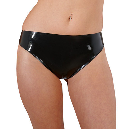 Latex Briefs black Large Ladies Lingerie Thongs - The Latex Collection