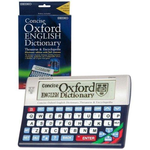 Seiko Concise Oxford Dictionary  Thesaurus & Encyclopedia (ER6700)