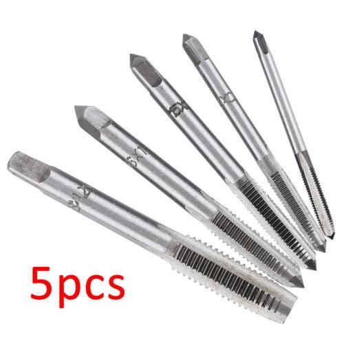 5x - HSS Machine Screw Thread Metric Plug Tap 3mm 4mm 5mm 6mm 8mm M3-M8 Set Kit