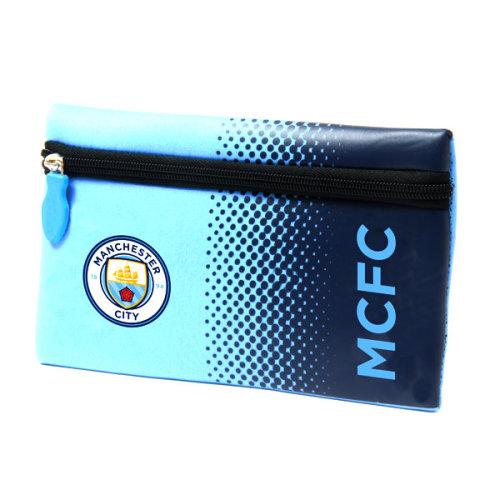Man City Fade Design Pencil Case - Manchester Fc Official School Football Gift -  pencil case city manchester fc official school football fade gift
