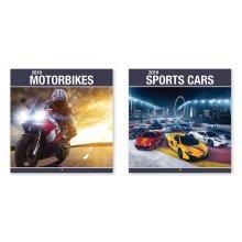 2019 Sports Cars Bikes Motorbikes Super Performance Racing Square Wall Calendar Christmas Birthday Gift