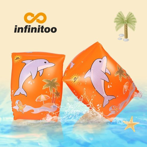 infinitoo Swimming Wings, Buoyancy Aid, Swimming Tire Swim Wristbands for Children and Toddlers from 2-6 years, 15-30kg, Swim Pads with Dolphin...