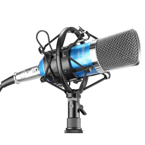 Neewer® NW-700 Professional Studio Broadcasting & Recording Condenser Microphone Set Including: NW-700 Condenser Microphone + Metal Microphone...